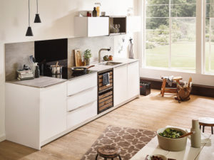 Traumküche mit Arbeitsplatte aus Keramik
