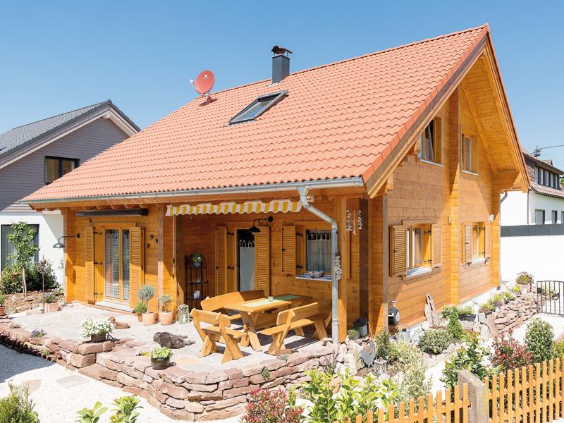 Blockhaus Rutesheim von Rems-Murr-Holzhaus, Außenansicht