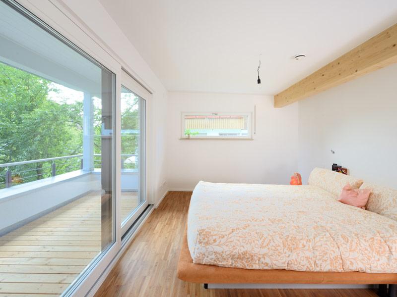 Schlafzimmer im Kundenhaus Bittner von Fertighaus Weiss
