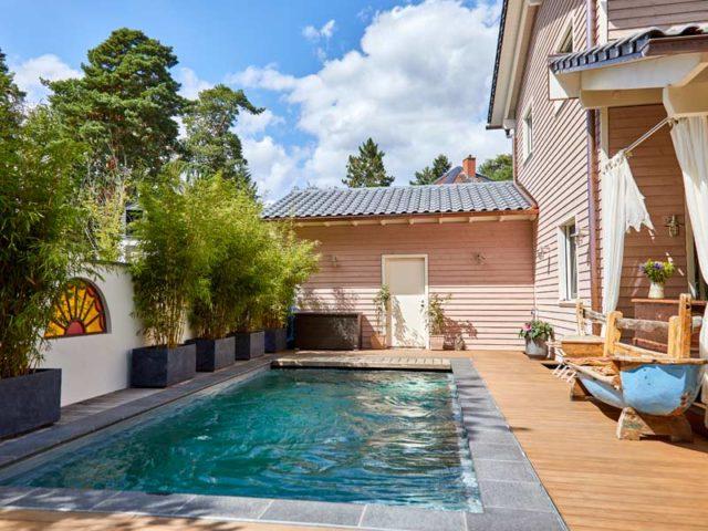 Kundenhaus van Dyck Baufritz Pool