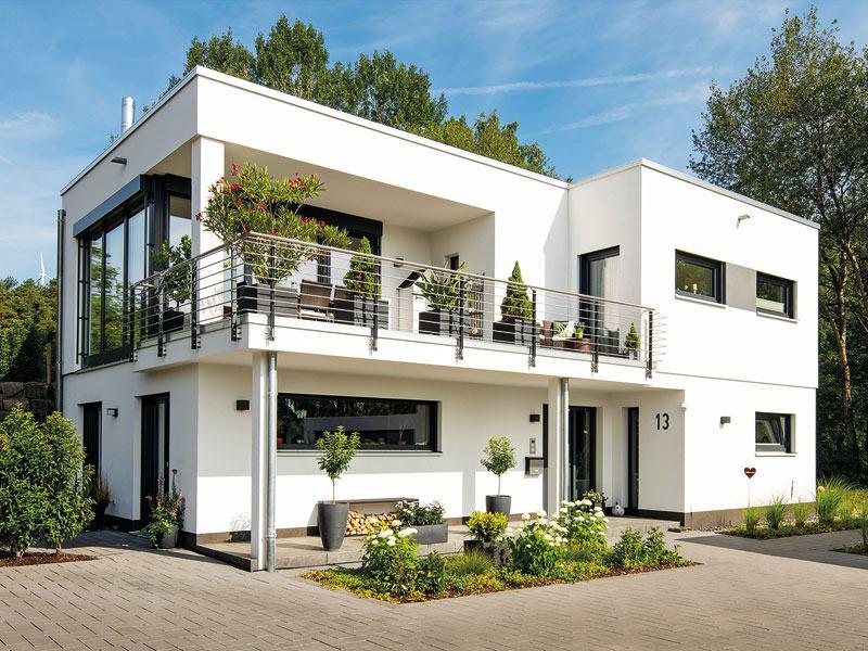 Fertighaus vom Architekten von Fingerhaus aussen Eingang