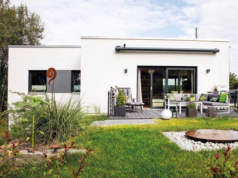 Fertighaus vom Architekten von Fingerhaus terrasse