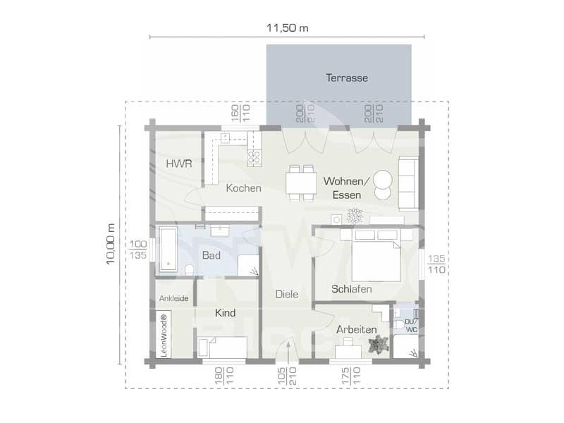 Blockhaus Victoria von Leonwood. Grundriss