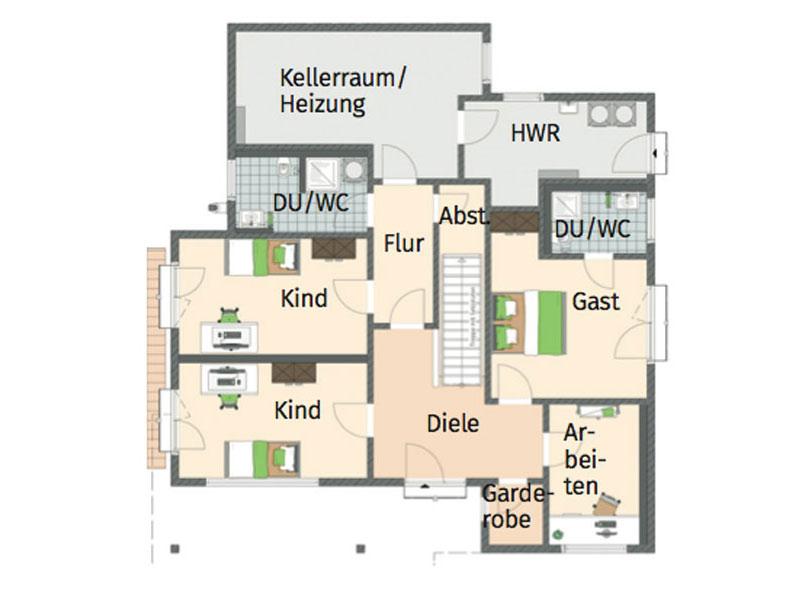 Grundriss Untergeschoss Architektenhaus von Fingerhaus