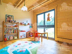 Blockhaus Lapin-Kulta von Leonwood-Kinderzimmer