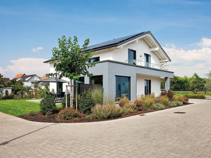Haus Hilzendegen von Living Fertighaus. Terrasse