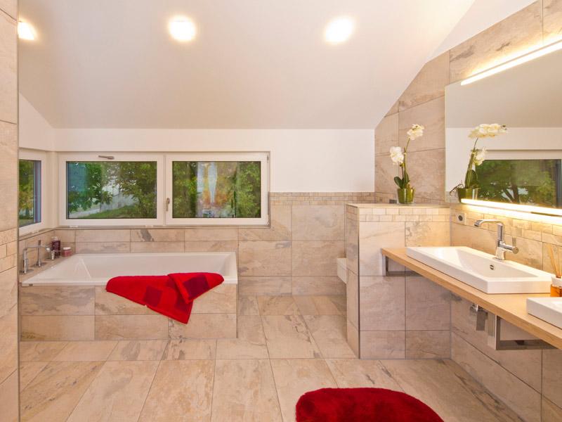 Badezimmer Musterhaus Future