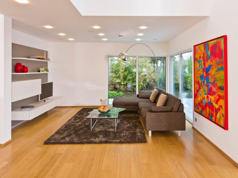 Wohnzimmer im Musterhaus Future