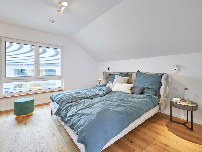 Schlafzimmer im Musterhaus Günzburg