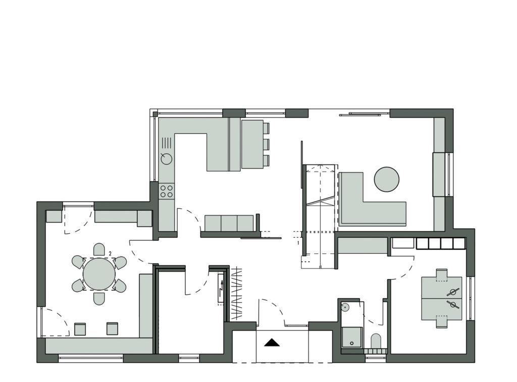 Musterhaus Ottendorf-Okrilla von SchwörerHaus. Grundriss Erdgeschoss