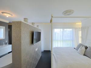 Schlafzimmer im Haus Tursellino von Fertighaus Weiss