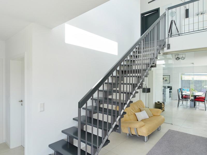 Luxhaus Pultdach Klassik 189 Treppe Eingang