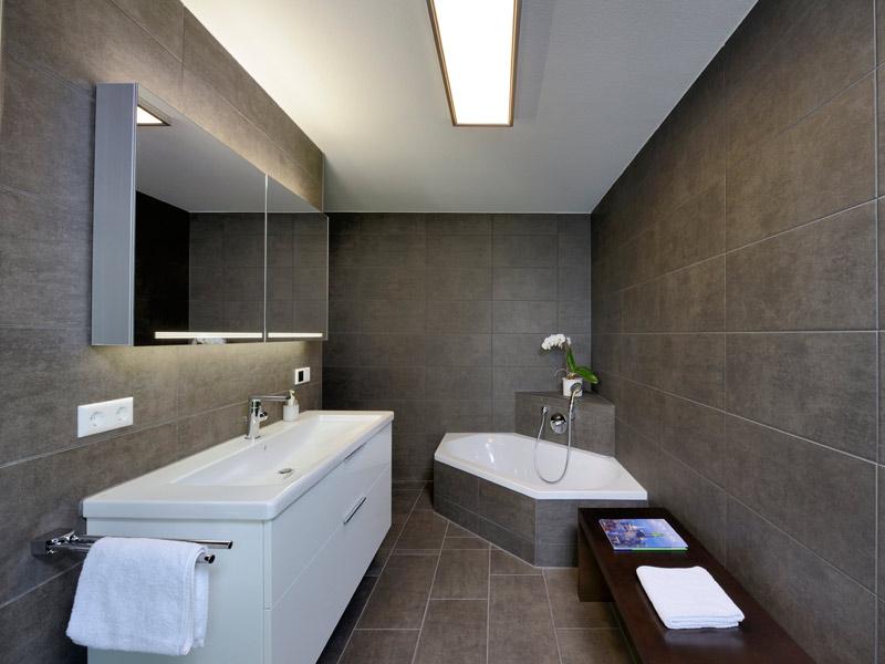 Badezimmer im Haus Jäger von Fertighaus Weiss