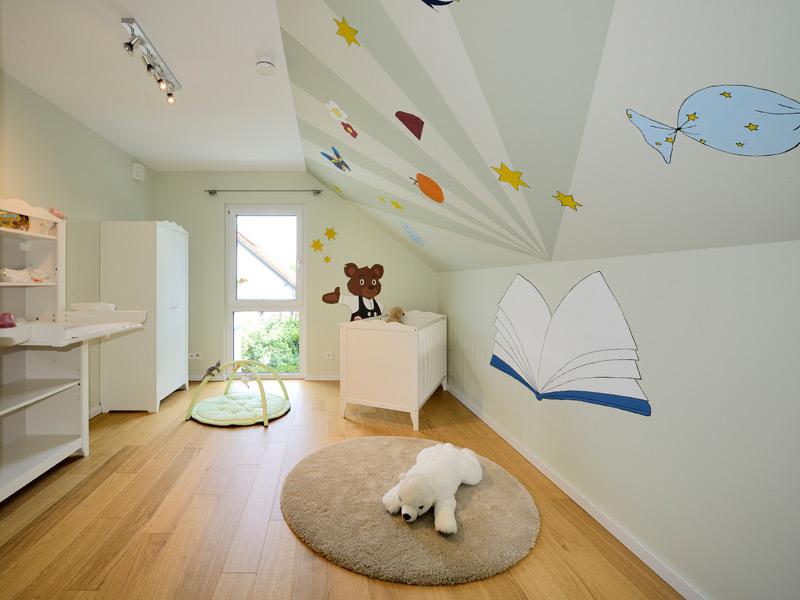 Kinderzimmer im Musterhaus Life
