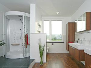 Dusche im Musterhaus Style