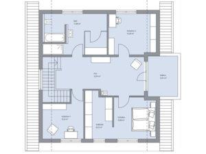 Musterhaus Haus Isermann von Baumeister-Haus Dachgeschoss