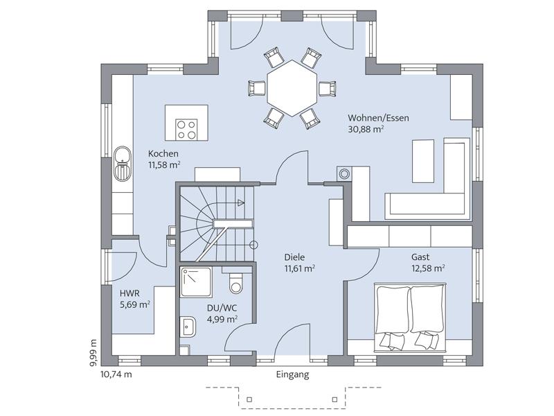 Haus Clemens von Baumeister-Haus - EG