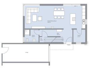 Erdgeschoss Musterhaus Poschmann von Baumeister-Haus