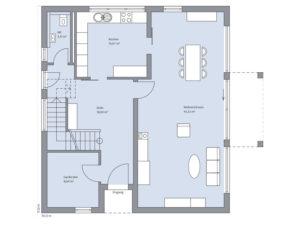 Musterhaus Haus Isermann von Baumeister-Haus - Erdgeschoss
