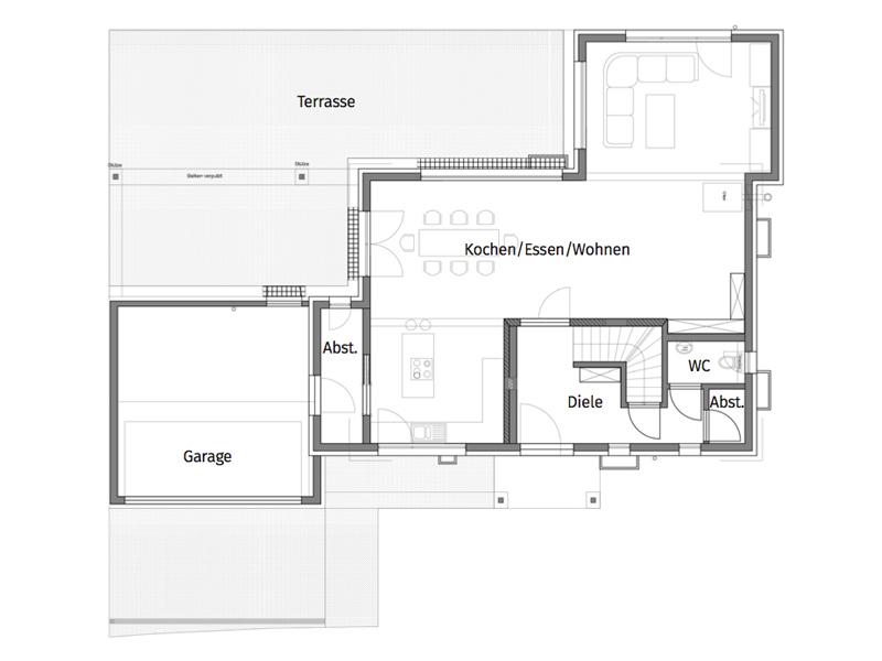 Haus Mahl von Fertighaus Weiss. Grundriss
