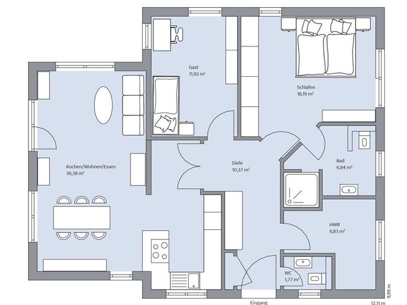 Haus Rahn von Baumiester-Haus. Grundriss