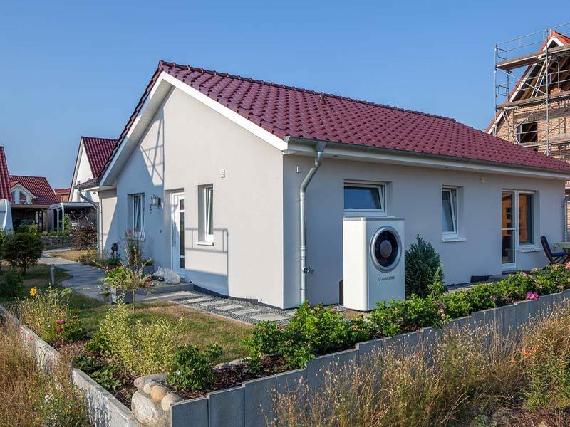 Haus Rahn von Baumeister-Haus. Außenfassade Stirnseite