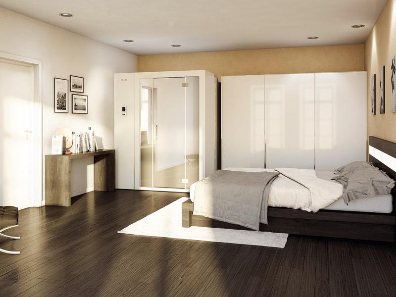 Sauna im Schlafzimmer