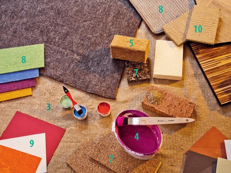 Natürliche Materialien am Bau