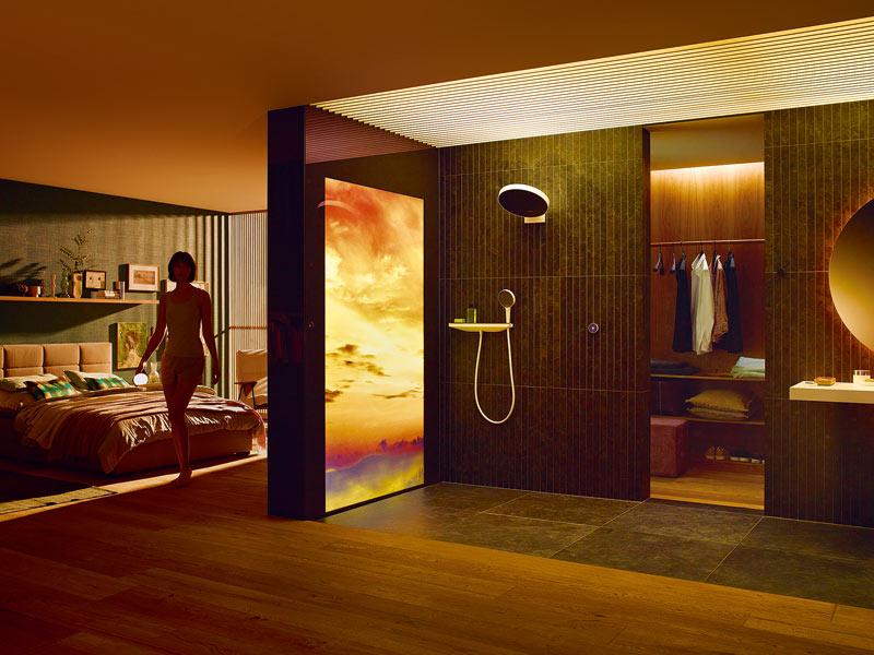 Dusche im Schlafzimmer