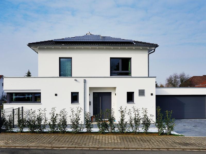 Hausbau Trends 2021 Haus Schmidt Fertighaus Weiss aussen