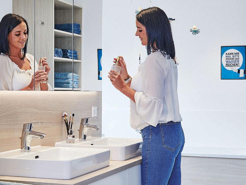 Musterhaus Poing von Schwörerhaus - Badezimmer