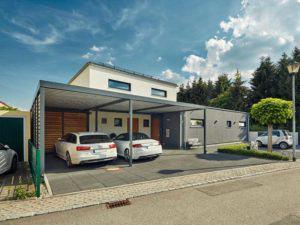 Luxhaus Walmdach 201 - Außenansicht