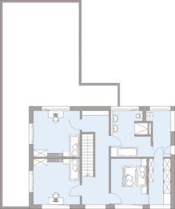 Musterhaus Gruber von Baufritz- Obergeschoss