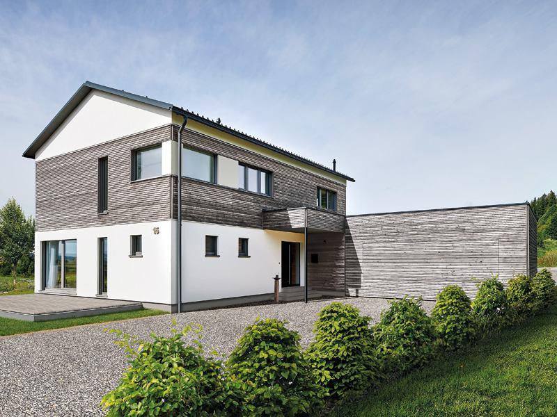 Musterhaus Gruber von Baufritz-Außenansicht