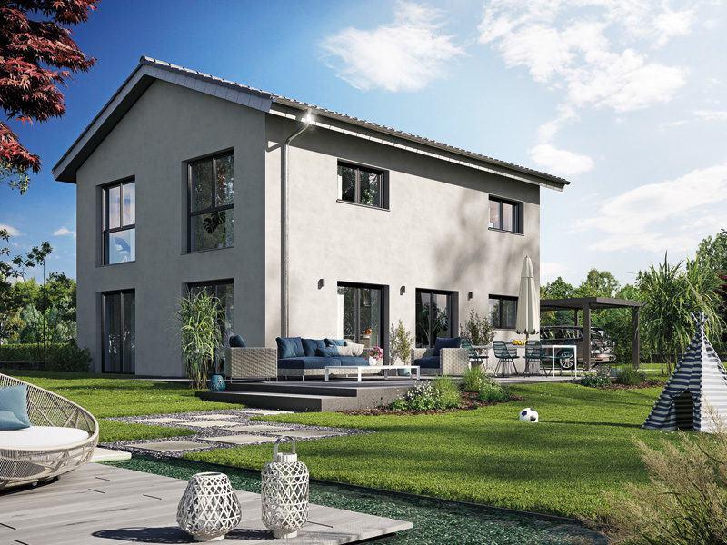Icon 3.Plus City von Dennert Massivhaus, Außenansicht