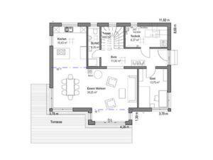 Walmdach 174 von Luxhaus - EG