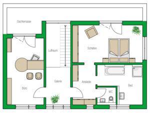 Grundriss Obergeschoss Musterhaus Weimar