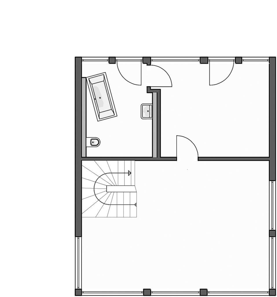 Homestory 824 von Lehner Haus. Grundriss Obergeschoss