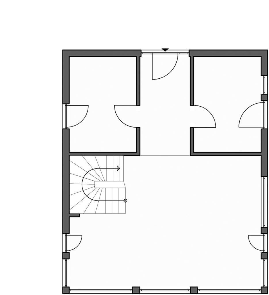 Homestory 824 von Lehner Haus. Grundriss Erdgeschoss