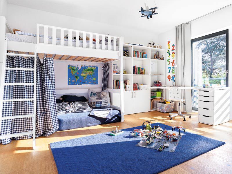 Hochbett im Kinderzimmer von Kundenhaus Schäfer von Schwörerhaus