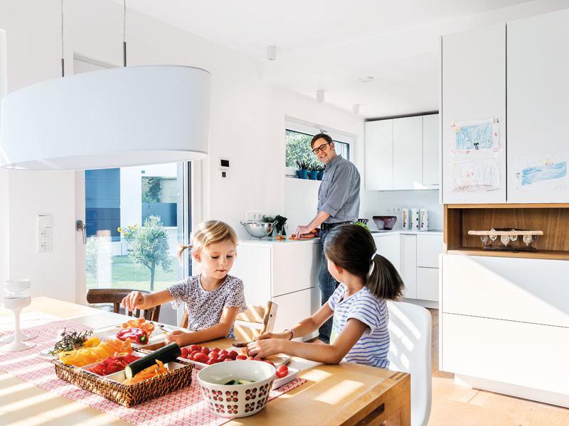 Küche im Haus E 15-149.10 von Schwörerhaus
