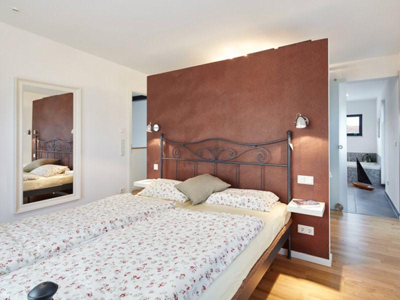 Pultdach 138 von Luxhaus. Schlafzimmer