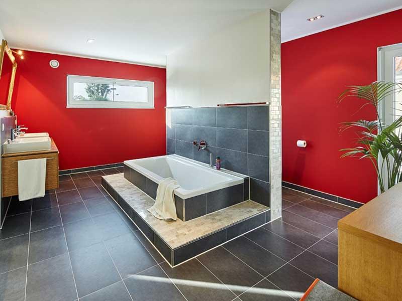 Luxhaus Walmdach 201 - Badezimmer