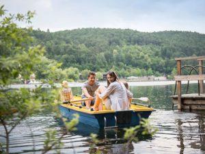 Ruderboot im Gartenhotel Moser