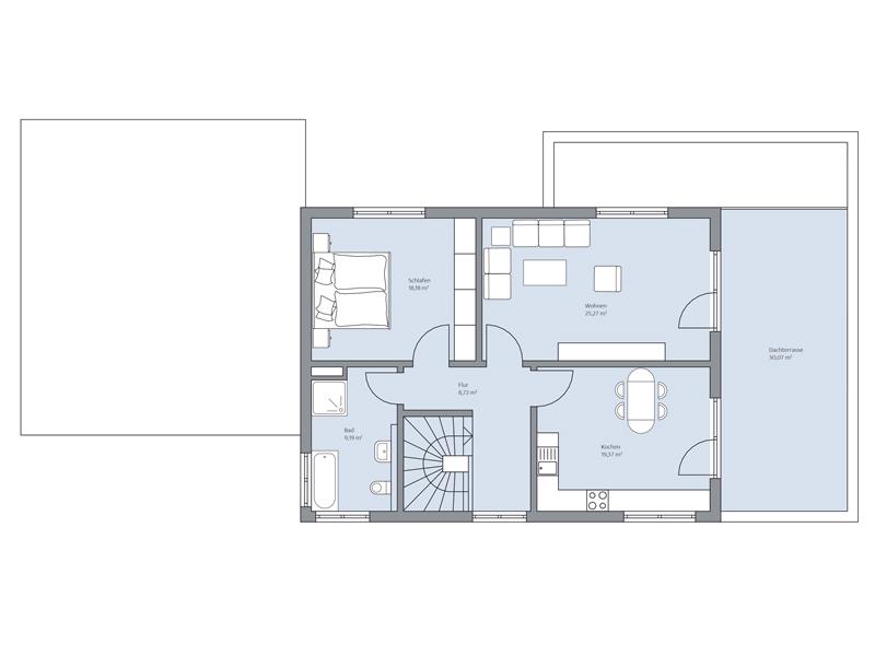 Haus Elberfeld von Baumeister-Haus. Grundriss Obergeschoss