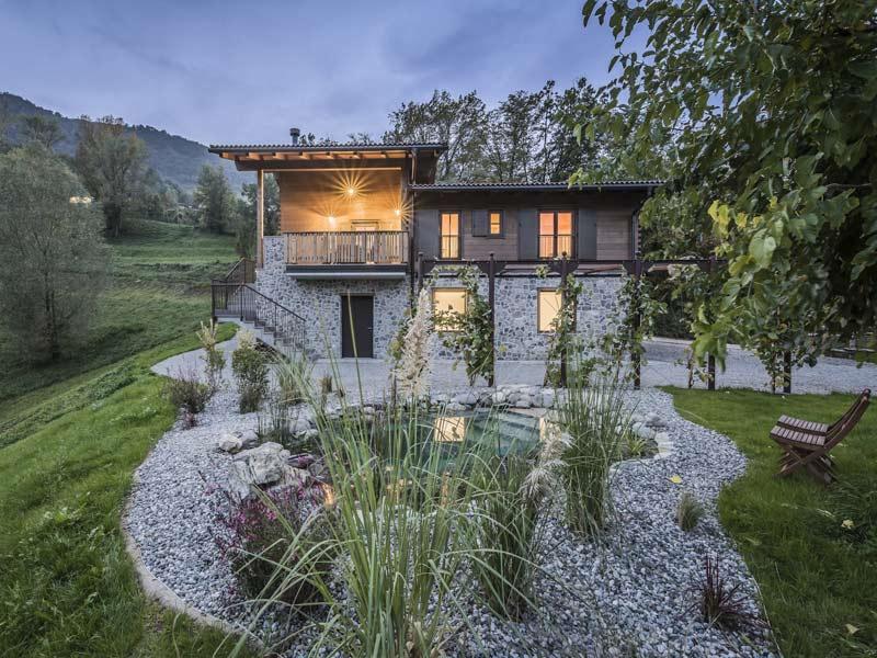 Musterhaus Lago Iseo von Rubner-Haus Gartenseite