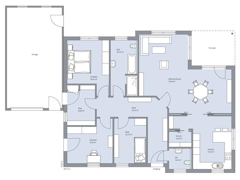 Haus Voss von Baumeister-Haus. Grundriss