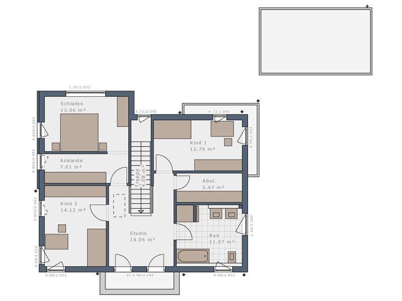 Schwabenhaus Solitaire-E155-E9 -OG