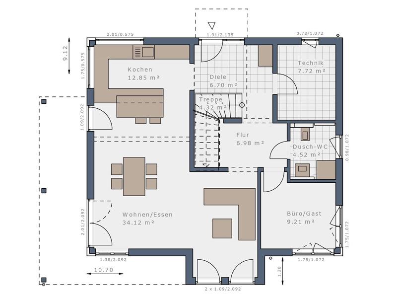 Haus Solitaire E-165 E4 -EG
