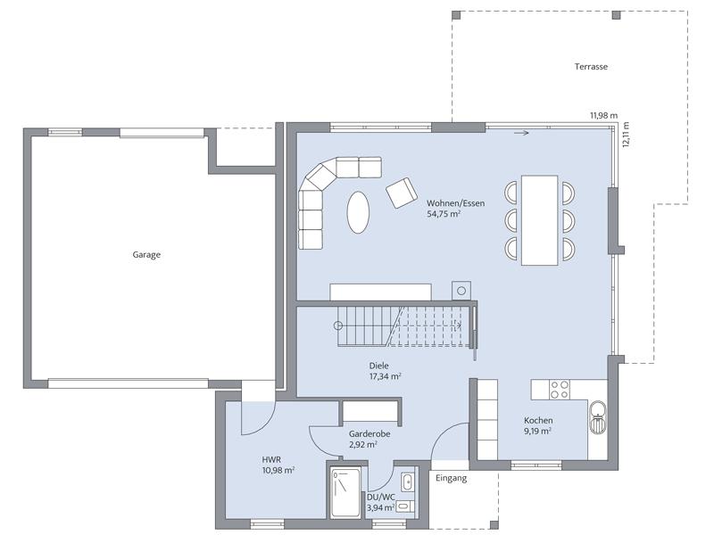 Haus Daume von Baumeister-Haus. Grundriss Erdgeschoss